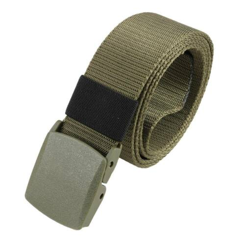 Men/'s Outdoor Sports Military Imitation nylon Waistband Canvas Web Belt B
