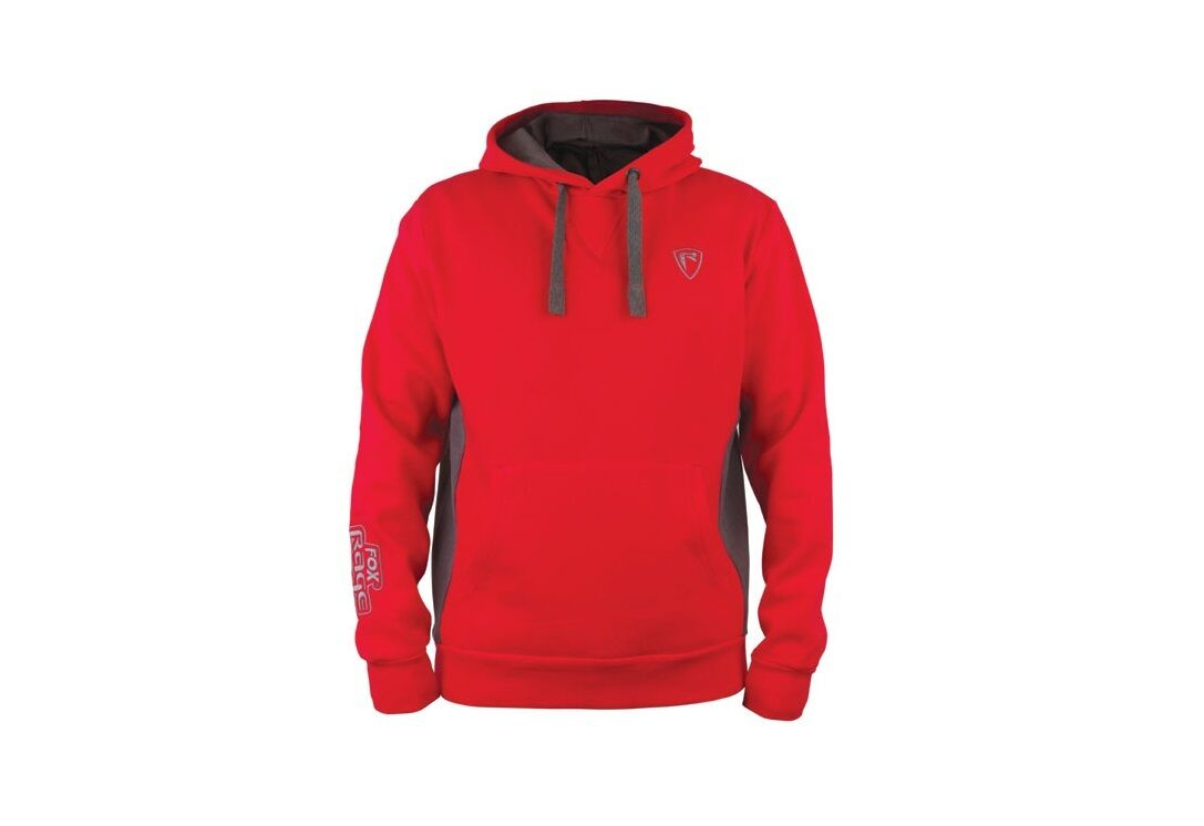 Fox rage ribbed Hoody rot grau pull Hoodie sweat à capuche pull over