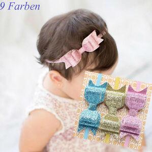 Haarband Schleife Paillette Baby Mädchen Stirnband Kopfband Haarschmuck 9 Farben