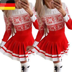 Damen Weihnachten Kleider Partykleid Swing Skaterkleid ...