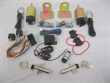 5 Channel Shaved Handle 2 Door Kit 85 lb Solenoid Remote Entry w Poppers Hot Rod