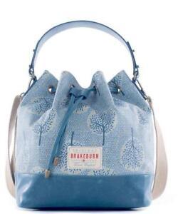 e167978219bd Brakeburn Ladies Teal Blue Trees Leaves Design Bucket Bag Style Hand ...