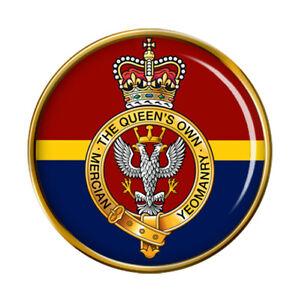 Queen-039-s-Propre-Mercian-Yeomanry-Armee-Britannique-Broche-Badge