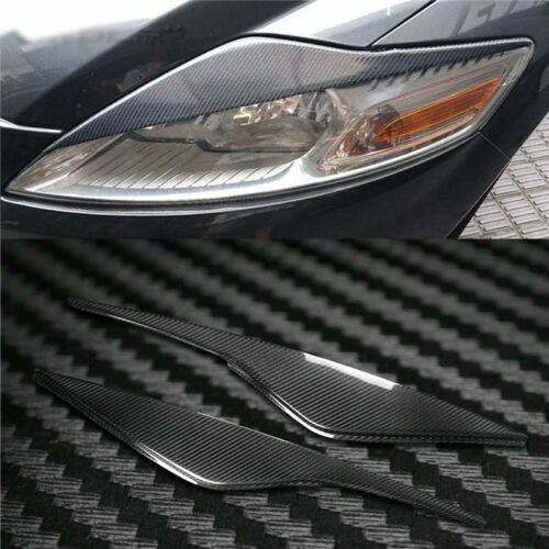 Carbon Fiber Headlight Cover Eyebrows Eyelid Trim Sticker Decals For Ford Mondeo