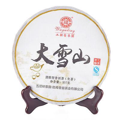 Wuguling 2015 Da Xue Shan Puer/ Pu'er Raw Cake Tea 357g Yunnan