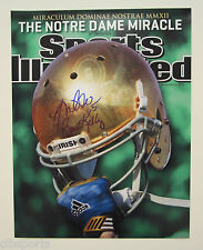 BRIAN KELLY Manti Te'o signed 11x14 SI NOTRE DAME Cover Sports Illustrated TEO
