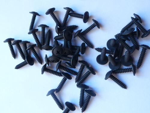 Blechschraube schwarz verzinkt mit Scheibe Bund 3,9x13 mm 100 Stück