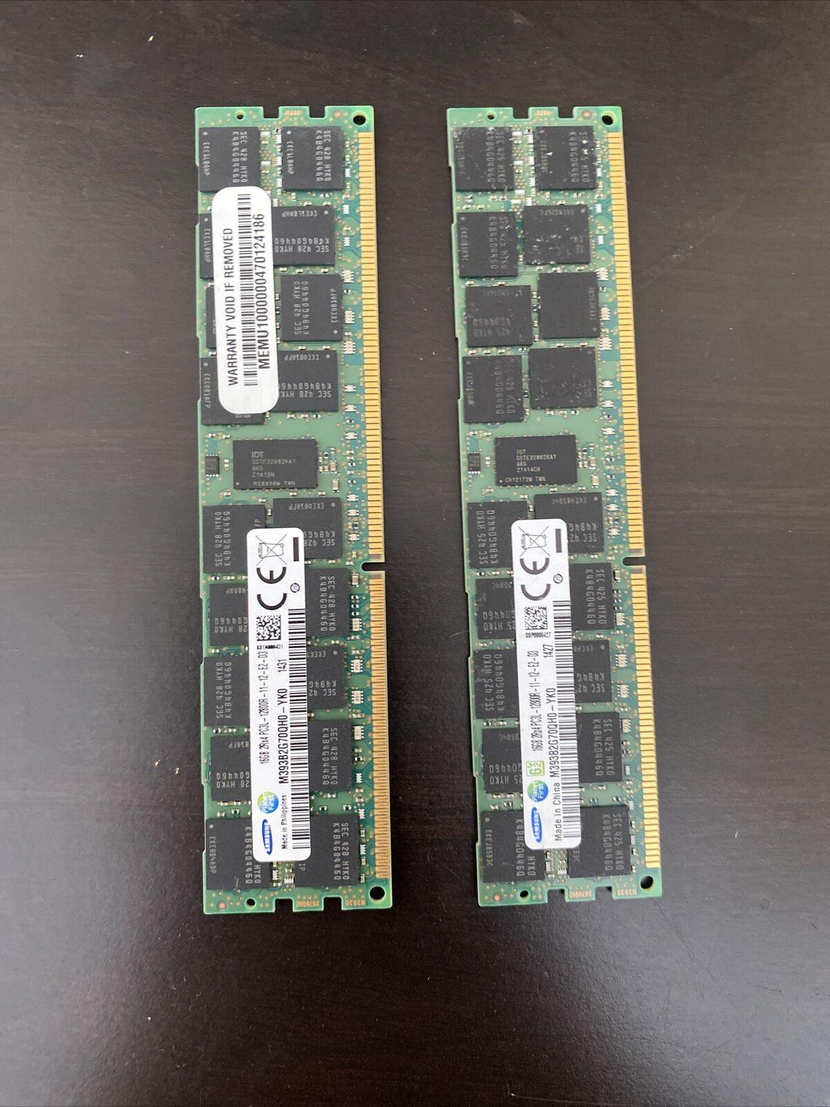 SAMSUNG RAM 32GB(2×16GB) 2Rx4 PC3L-12800R REG DDR3 Server Memory. Buy it now for 64.99