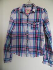 HOLLISTER Multi Plaid   Button Up Women's Shirt  - Sz S