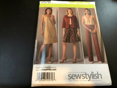 Simplicity Pattern 2570 Ms THREADS//SEW STYLISH Pants~Skirt~Jacket~Dress or Top