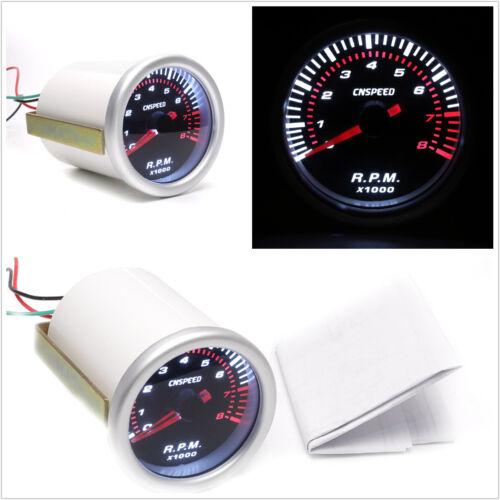 12V 2/'/' 52MM Car SUV Motor Digital LED Tachometer Tacho Gauge Meter Pointer RPM