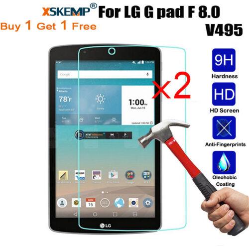 V495 8.0 2X LCD Tempered Glass Protector For LG G Pad V400 V410 7.0 V498 8.0