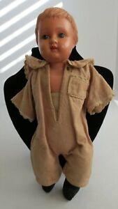 Antique-SCHUTZ-Germany-Turtle-Mark-No-11-Celluloid-Boy-Doll-10-5-034-Tall