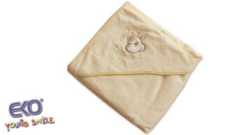 Großes weiches Baby Badetuch Kapuzenbadetuch Baumwolle Frottee 100 x 100 cm