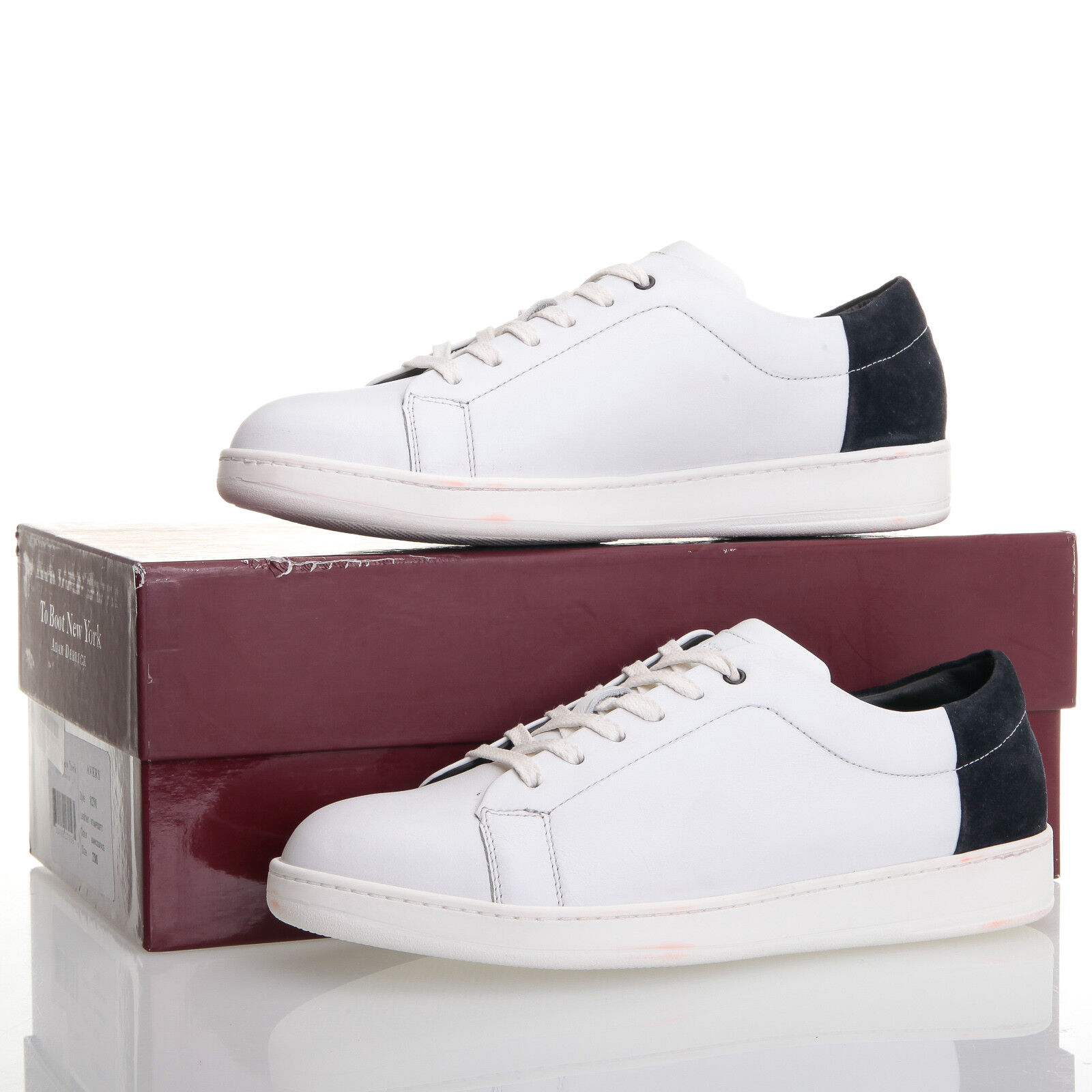 To Boot New York Avery Space White Pelle Low Top  - Uomo Size 7 M