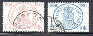 Finland-Sc-182-3-1931-75th-Stamp-Anniversary-stamp-set-used-Free-Shipping