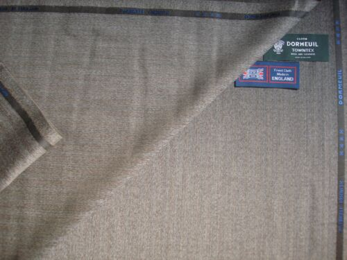"""DORMEUIL 95/% WOOL 5/% CASHMERE """"VINTAGE"""" SUITING FABRIC """"CASHMERE TOWNTX/""""-3.4 m."""
