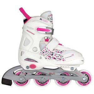 Inline-Skates Kinder Skater Inliner Girls  ABEC 5 Größe verstellbar 38 39 40 41 weiß