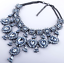 Women-039-s-Crystal-Rhinestone-Choker-Statement-Pendant-Chunky-Bib-Necklace-Jewelry thumbnail 7