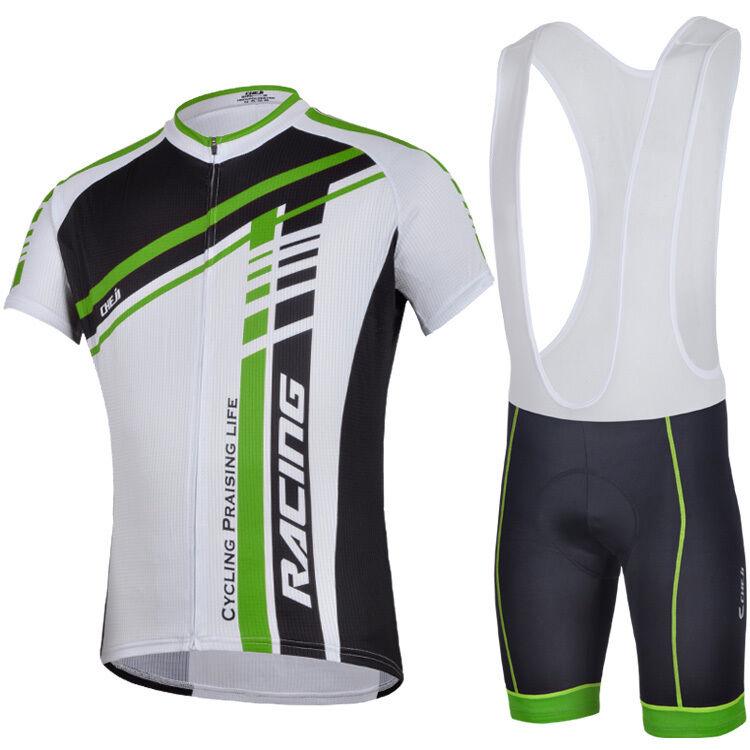 Mens Cycling Jerseys Kits Padded Bibs Shorts Bicycle Wear Biking  Clothing Sets  discount sales
