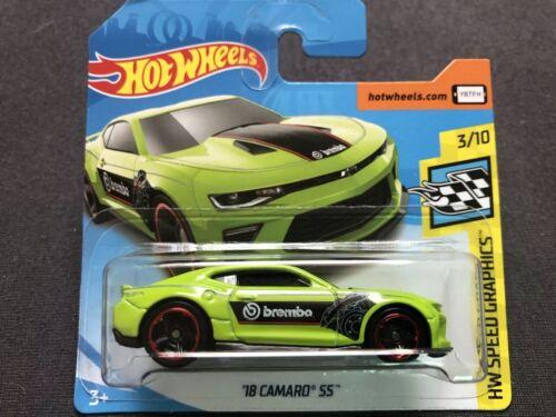 Hot Wheels 2019 ´18 Camaro SS Brembo Speed Graphics 3//10 FYD98 26//250 neu grün