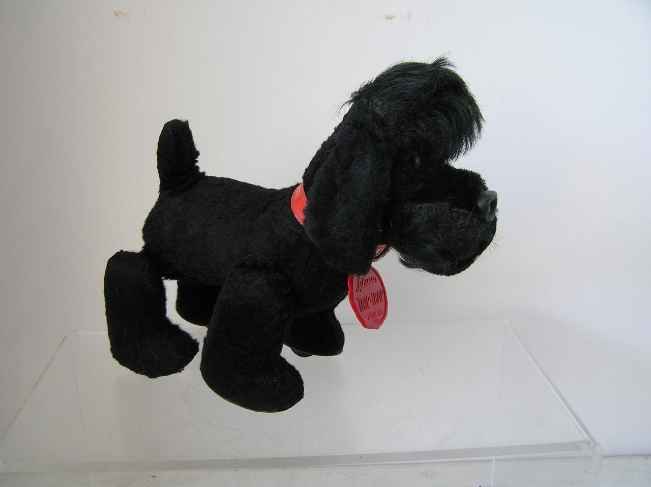 Vintage Schuco Trip Trap Poodle 1950s Mohair Plush Tripple Trappel w/ID LABEL