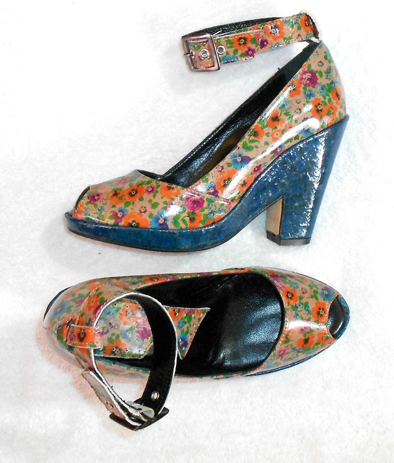 designer online IPPON STYL STYL STYL Escarpins sandales compensées cuir verni multicolore P 37 neufs  essere molto richiesto