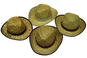 6e6781805e41e 4 CHILDRENS STRAW ZIG ZAG COWBOY HATS kids HT116 western hat costume ...
