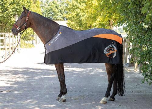 Logo Harry/'s Horse Fleece Decke Equestrian Society Orange Kontrastdetails