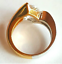 thumbnail 2 - Ladies Silver Gold Plated Solitaire  Ring Size 4.5 9.5 10 Cubic Zirconia