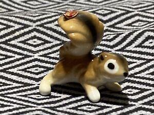 Vintage Ceramic Bone China Squirrel Figurine With Sticker
