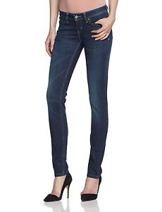 Levis Skinny Jeans Womens Size 32 / 15M Demi Curve Indigo Smoulder ...