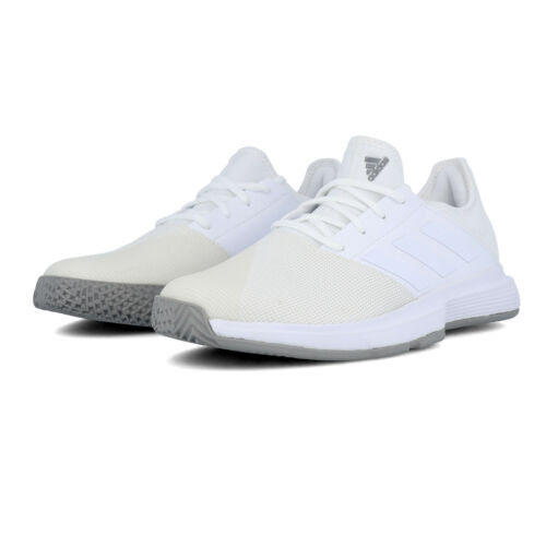 White Sports Breathable Lightweight adidas Mens GameCourt Tennis Shoe