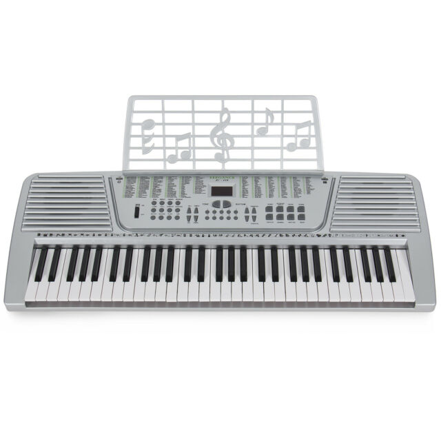 New Silver 61 Key Electronic Music Keyboard, Electric Piano Organ