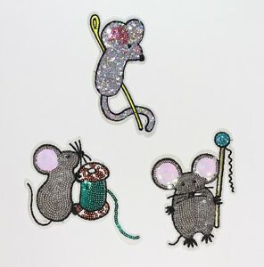 Tom and Jerry mouse cute rat iron on Sew on Embroidered Patch applique #1408