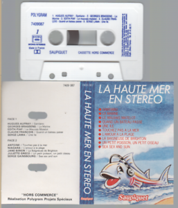 La Haute Mer En Stereo Cassette K7 Tape Promo claude françois gainsbourg greco..