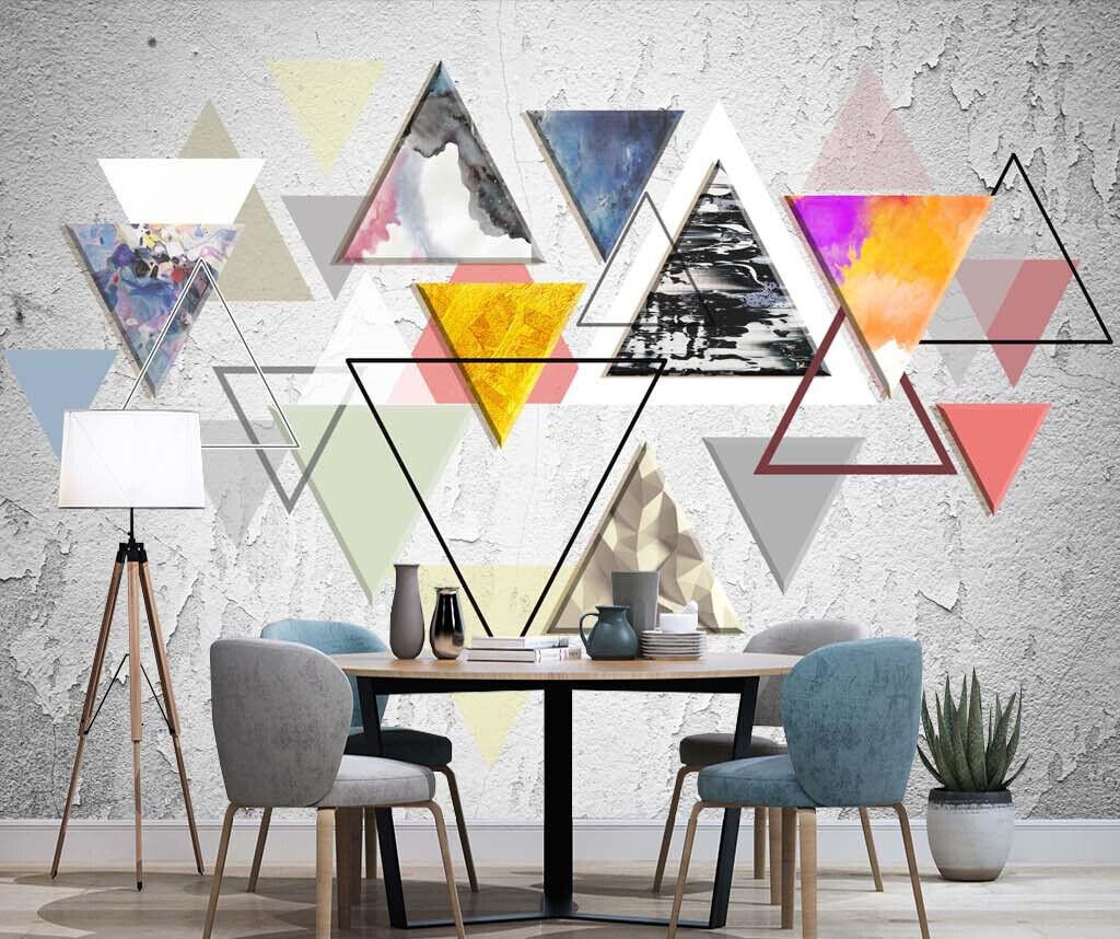 3D Geometrie Muster M485 Tapete Wandbild Selbstklebend Abnehmbare Aufkleber Amy