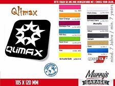 Qlimax - 105x120 mm Aufkleber, Sticker, Autocollant, Étiquette Q-Dance, Hardcore