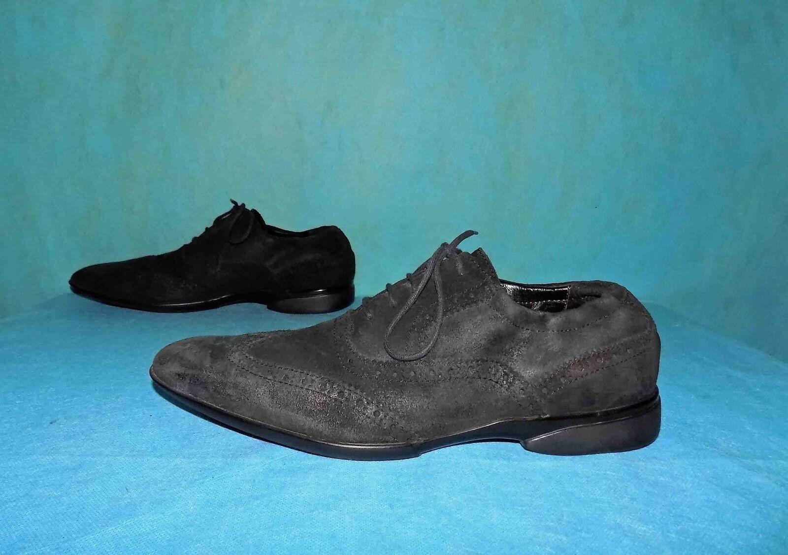 Scarpe derby MANFIELD di cuoio cuoio di nero p 8 regno unito o 42 fr ottime condizioni 8b17f5