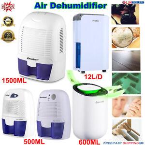 Détails sur 12L/500ML Déshumidificateur Air purifier l\'Humidité Humide  Maison Chambre Salle de Bain Cuisine- afficher le titre d\'origine