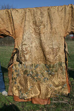 A Rare and Important Chinese Qing Dynasty Dragon Robe 19th Cen.  Gold Threads