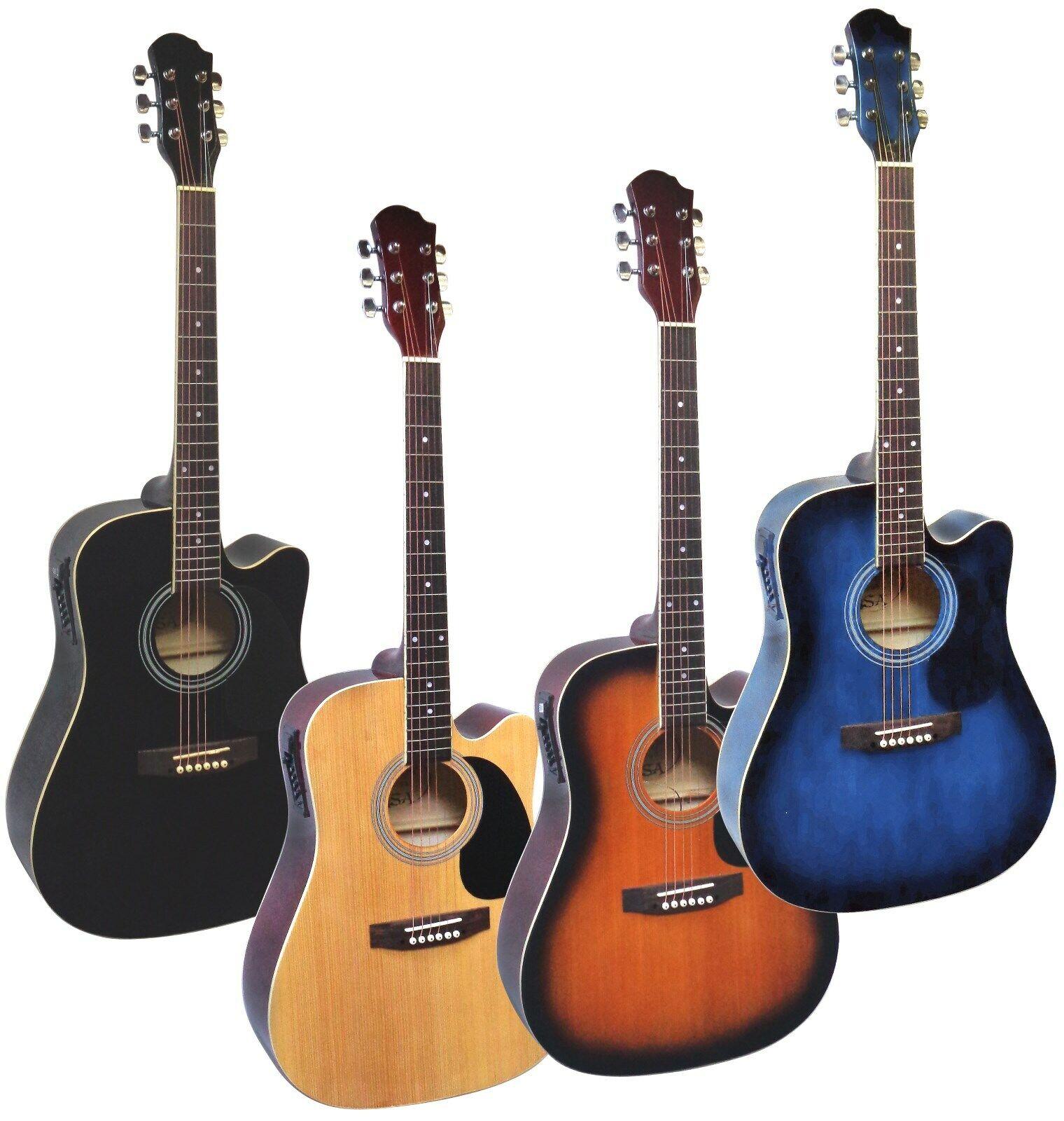 Gitarre Westerngitarre-Dreadnought 6Saiten-Tonabnehmer EQ-Anschlußkabel-Auswahl