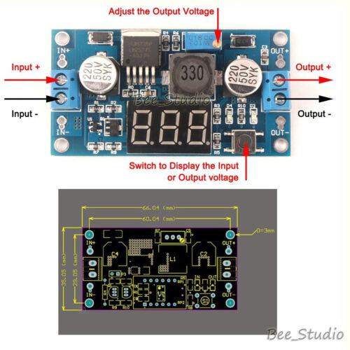 Digital LED Meter 3A DC-DC Boost Step Up Converter 5V 12V 19V 24V Power Supply