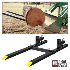 1500lbs 60 Tractor Pallet Forks Clamp On Skid Steer Loader Bucket Quick Attach