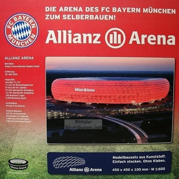 FC Bayern München Stadion Arena Modellbausatz, Allianz Arena Stadion Stadionmodell d7b810