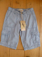 FAT FACE THICK COTTON CARGO SHORTS WITH POCKETS BLUE WHITE STRIPE UK 6 XXS