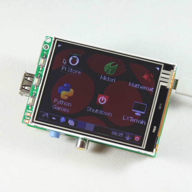 Touch Screen 3.2' TFT LCD Module Display Monitor RGB board for Raspberry Pi B/B+