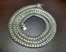 """32"""" Sterling Silver Miami Cuban Link Chain, 8 mm 115 grams"""