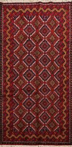 Geometric-Balouch-Afghan-Oriental-Area-Rug-Wool-Hand-knotted-Tribal-Carpet-4-039-x6-039