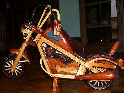 Moto In Legno Harley Davidson